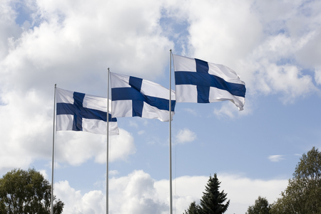 3 flags of Finland