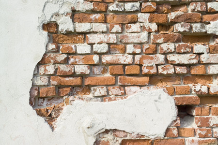 crumbled: crumbled wall Stock Photo