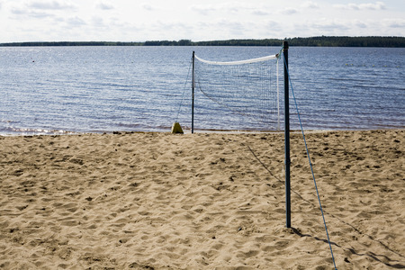 pelota de voley: Playa red de voleibol, Hiukka Sotkamo Finlandia