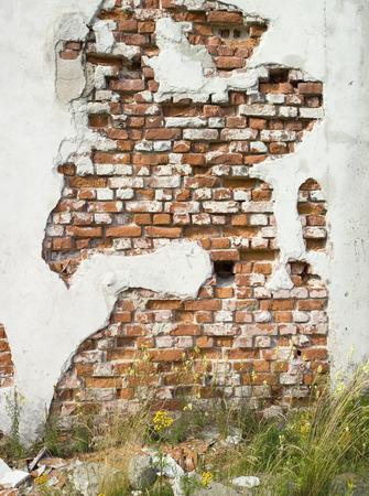 crumbled: crumbled wall Stock Photo