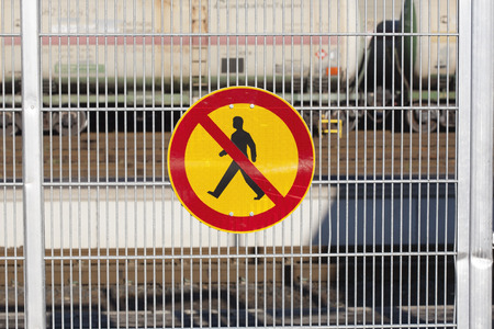 no access: no access railroad sign Finland Europe