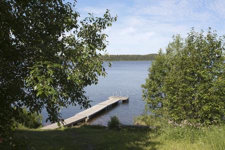 lakeshore: lakeshore scene, Finland Stock Photo