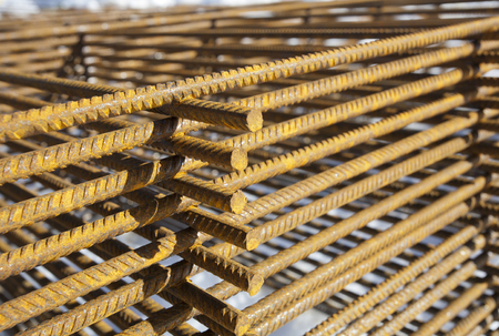 construction material: rusty construction material