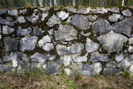 man made structure: stone wall
