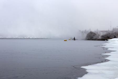winter finland: foggy winter scene, Finland