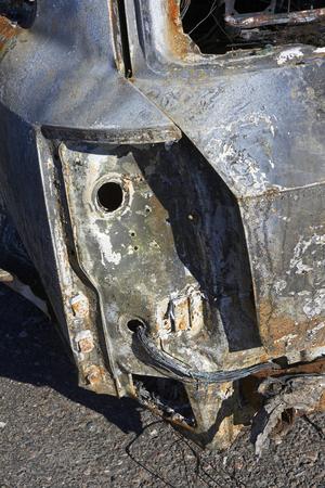 quemado: Detalle del coche quemado