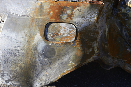 vandalize: burned car detail