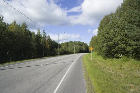 finland: Road scene, Finland