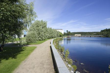 walkway by the river, Kajaani Finland