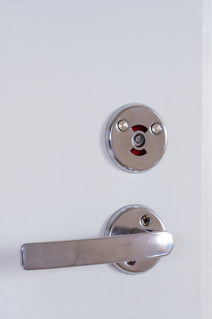 locked: locked bathroom door Stock Photo