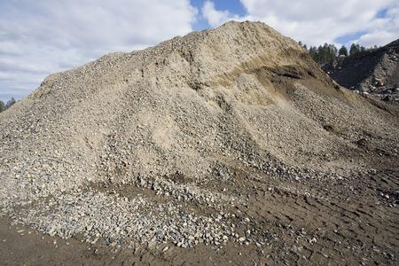 gravier zone d'extraction