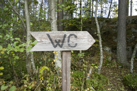 outhouse: outhouse sign