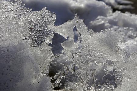 finland: melting snow, Finland Stock Photo
