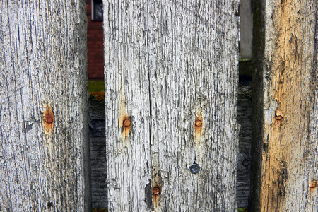 picket fence: old picket fence Stock Photo