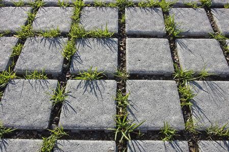 concrete tiles on ground Stock Photo