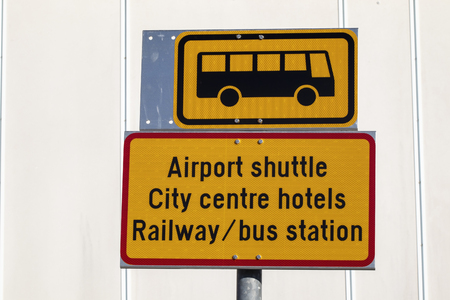airport bus stop sign