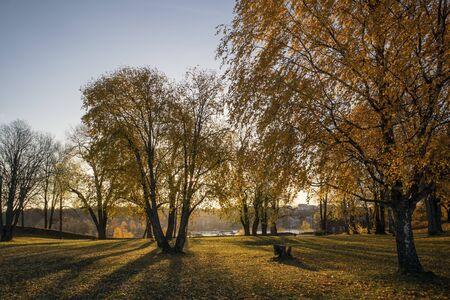 autumn foliage in city park, Lappeenranta Finland Imagens - 132673815