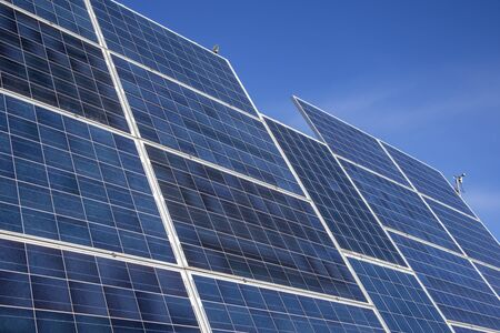 solar panels for electricity production Foto de archivo