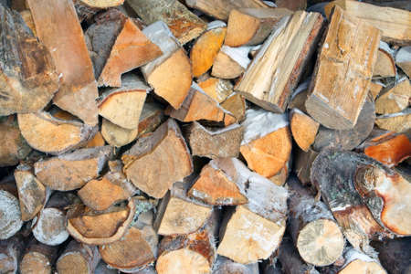 Pile of chopped fire wood Imagens