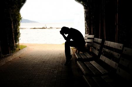 Teenager-Depression, Tunnel Lizenzfreie Bilder