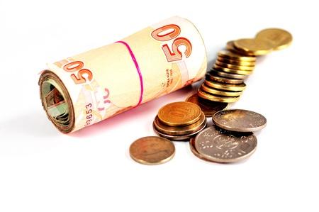 T�rkische Lira, Exporte, Importe, Austausch, Geld, Kopie, Raum Lizenzfreie Bilder