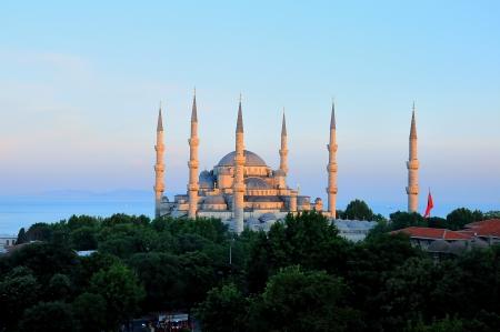La Mosquée Bleue, la nuit, istanbu la Turquie, Banque d'images