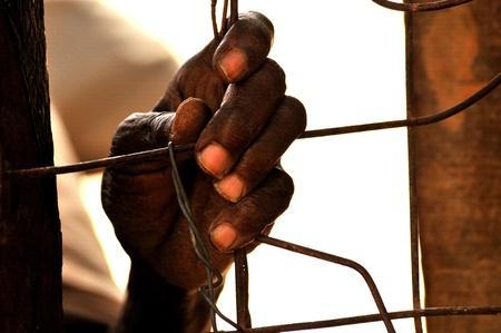 Somalischer Einwanderer in den Migranten Camp in Kenia