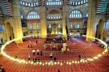 blue mosque: Turkey s largest mosque, the Selimiye Mosque in Edirne, Turkey