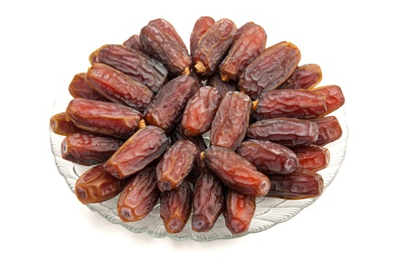 dates fruit: fresh date in white background Stock Photo
