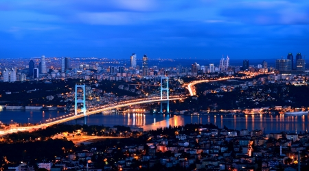 bosphorus bridge istanbul Turkey photo