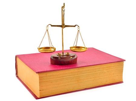 Waage der Gerechtigkeit atop B�cher