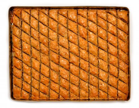 turkish dessert: traditional Turkish dessert baklava Stock Photo