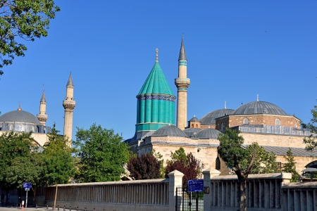 Mevlana museum mosque in Konya, Turkey photo