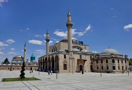 Selimiye Mosque and Mevlana museum mosque in Konya, Turkey