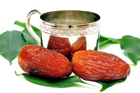 Date palm fruits and Zamzam water is blessed Ramadan photo