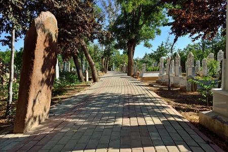 sufi: Islamic old gravestone in a cemetery
