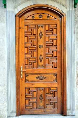 inlaid wood door ancient history photo