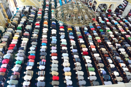 compliant: Muslims during Friday prayers in congregation in bulk Editorial
