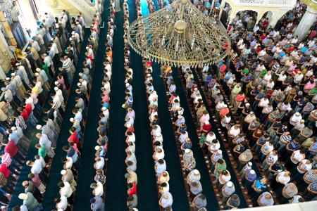 Muslims during Friday prayers in congregation in bulk 新闻类图片