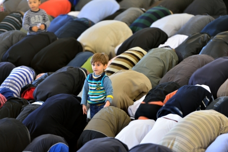 ISTANBUL, TURKEY - OCTOBER 6 Fatih Mosque to pray for the kids on October 6, 2013 in Istanbul Editorial