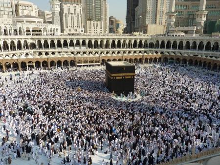 pilgrims: MECCA, SAUDI ARABIA - AUGUST 29  Muslim pilgrims, from all around the World, are circumambulating the Kaaba on August 29, 2010 in Mecca, Saudi Arabia