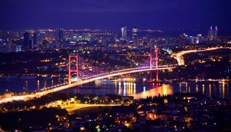 보스포러스 다리 터키 이스탄불 스톡 콘텐츠
