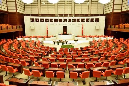 building regulations: ANKARA, TURKEY - NOVEMBER 30  Turkish Parliament Building inside on November 30, 2013 in Ankara , The Grand National Assembly of Turkey  in Turkish TBMM  inside Turkish legislature