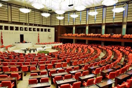 ANKARA, TURKEY - NOVEMBER 30  Turkish Parliament Building inside on November 30, 2013 in Ankara , The Grand National Assembly of Turkey  in Turkish TBMM  inside Turkish legislature