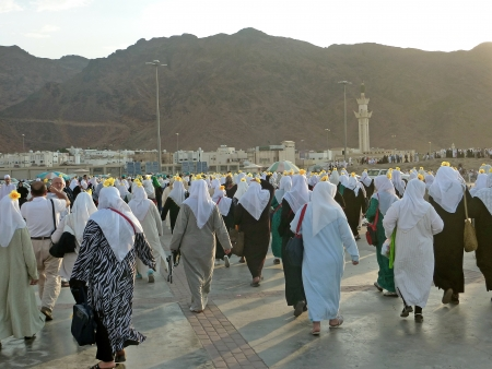 Medina, Saudi Arabia  Uhud Hill is one of historical place in Islamic history  Editorial