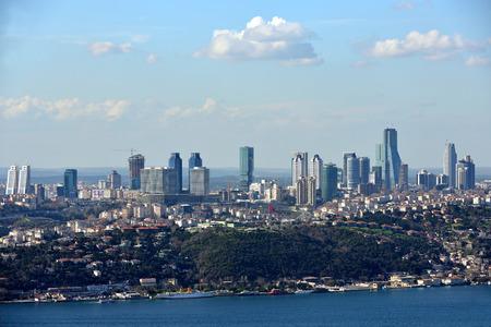 skyscraper in istanbul Stock Photo