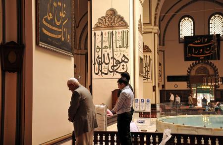 imam: BURSA, TURKEY - NOVEMBER 17  An interior view of Great Mosque  Ulu Cami  on November 17, 2010 in Bursa, Turkey  Great Mosque is the largest mosque in Bursa  Muslims who pray in the mosque