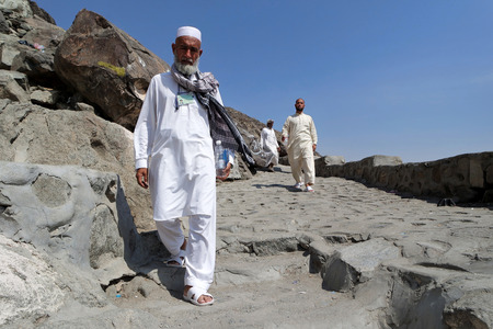 occurrence: MECCA, SAUDI ARABIA - FEBRUARY 3 : Cebel-i Nur in the mountains, caves returning from visiting Muslims of Hira on February 3, 2015. It was here that the first occurrence of revelation to Prophet Muhammad.
