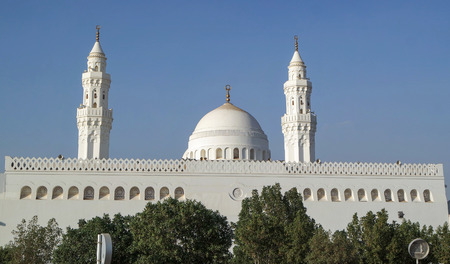 ksa: MEDINA, SAUDI ARABIA - JAN 30: Qiblatain visited the mosque of the medinas coming for hajj on January 30, 2015 in Medina, KSA. This mosque has been famous as the two qibla mosque.