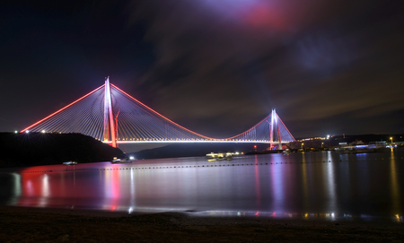 Yavuz Sultan Selim Bridge in Istanbul, Turkey. 3rd Bosphorus Bridge and Northern Marmara Motorway.